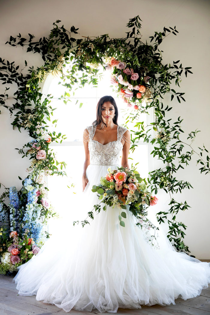 Flowers and Bride