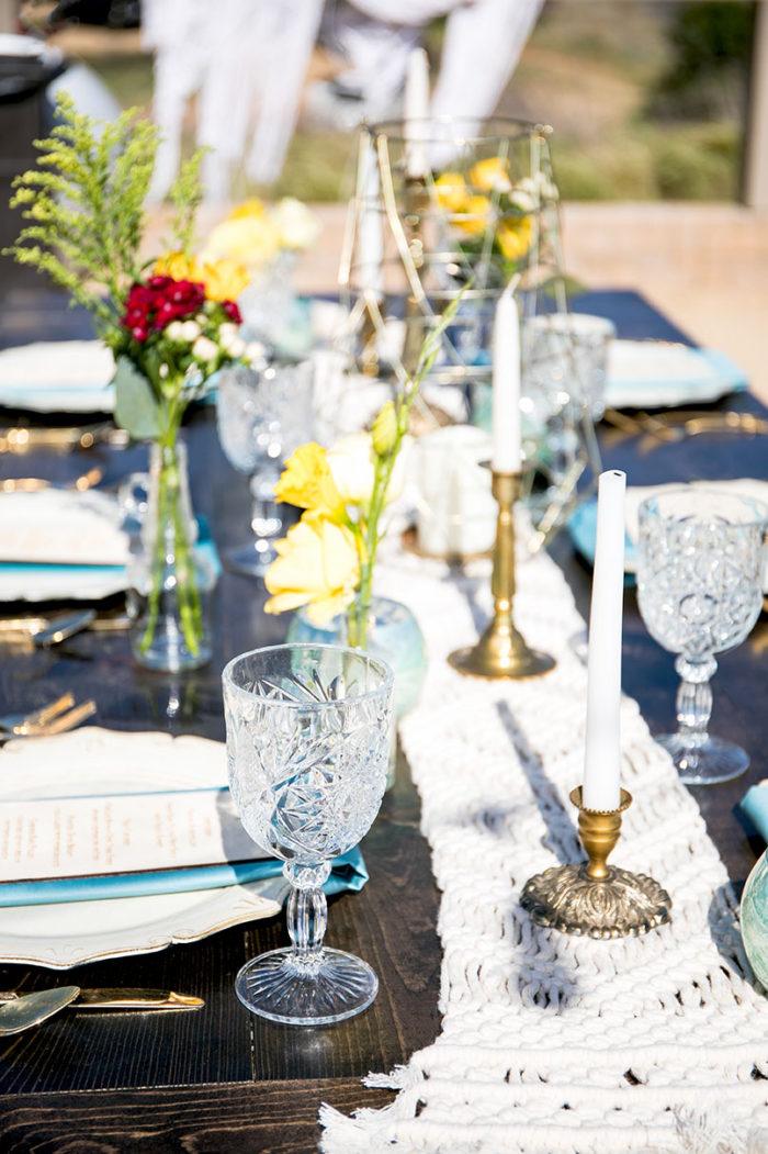 L.A. wedding table