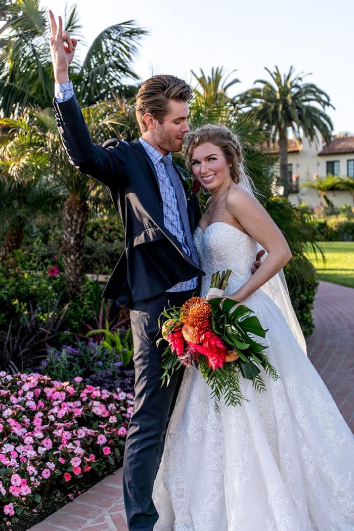 Santa Barbara Wedding Bride and Groom Four Seasons Montecito